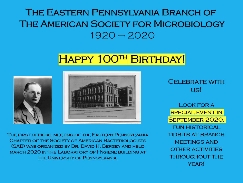 EPAASM Celebrating 100 years